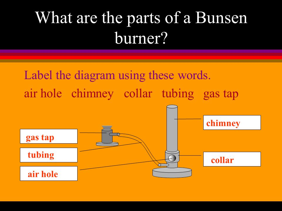 What are the parts of a Bunsen burner