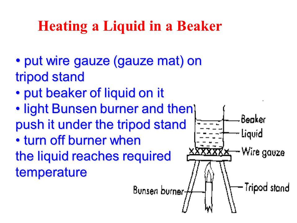 Heating a Liquid in a Beaker