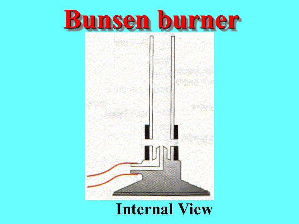 Bunsen burner Internal View