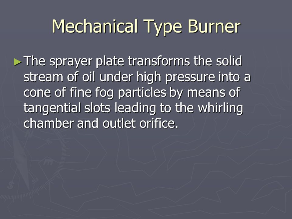 Mechanical Type Burner