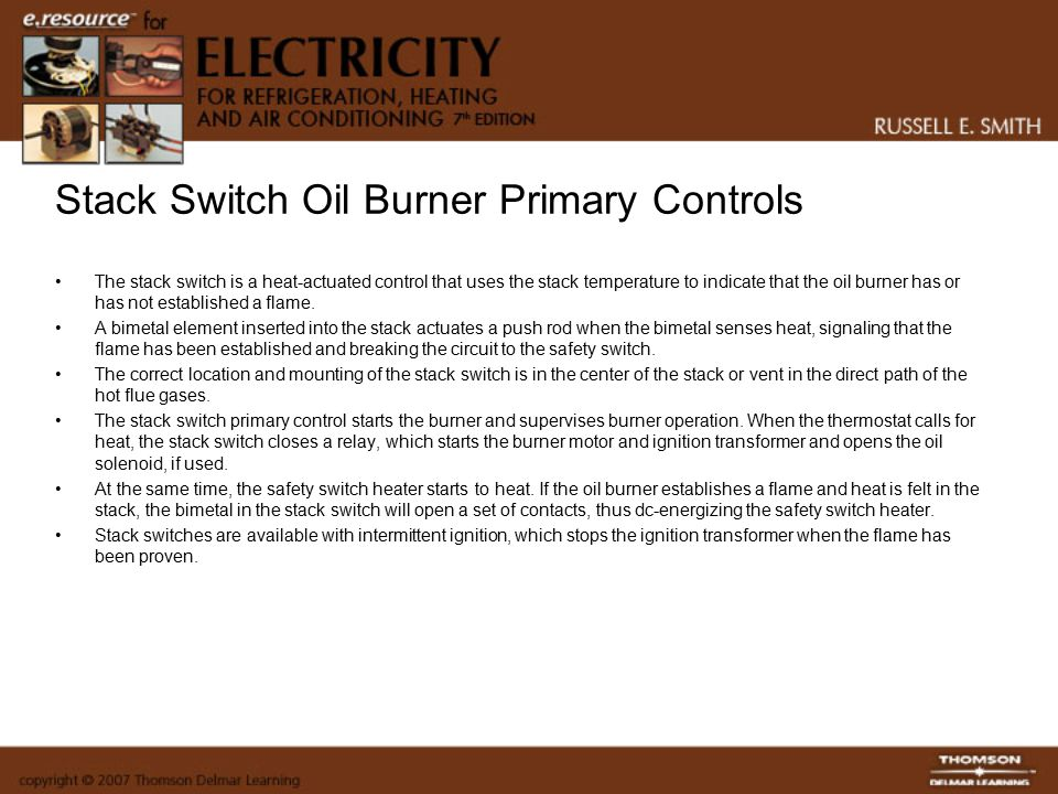 Stack Switch Oil Burner Primary Controls