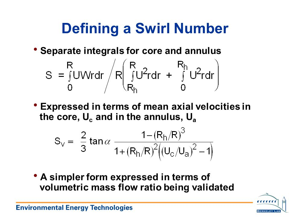 Defining a Swirl Number