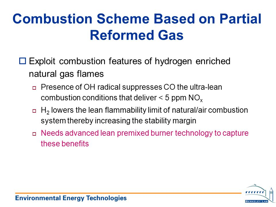 Combustion Scheme Based on Partial Reformed Gas