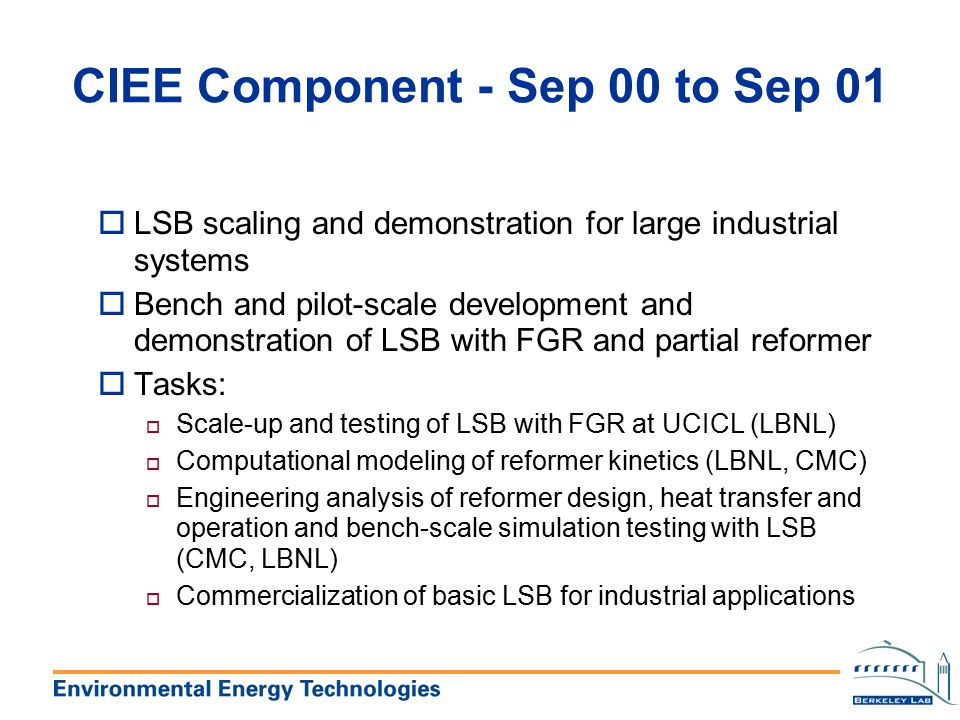 CIEE Component - Sep 00 to Sep 01