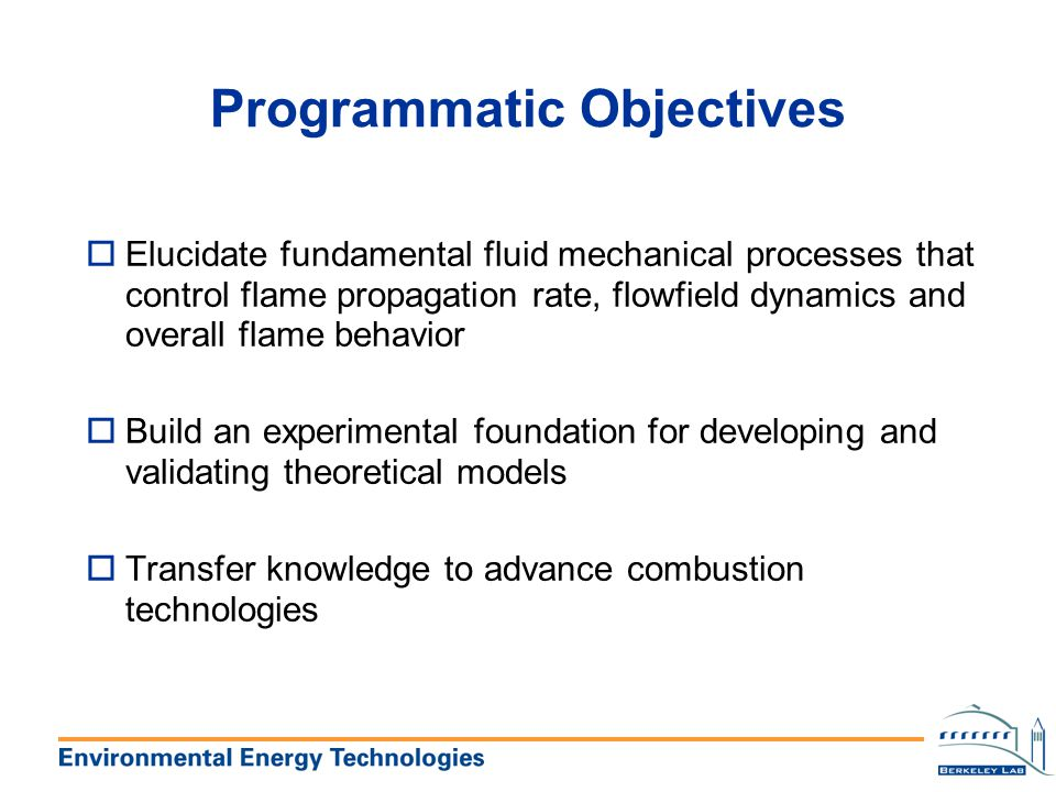 Programmatic Objectives