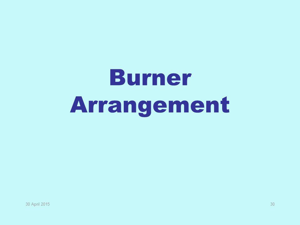 Burner Arrangement 13 April 2017