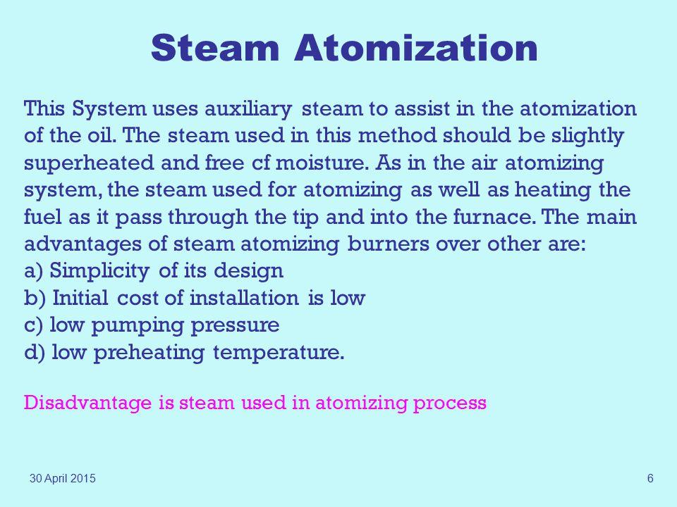 Steam Atomization