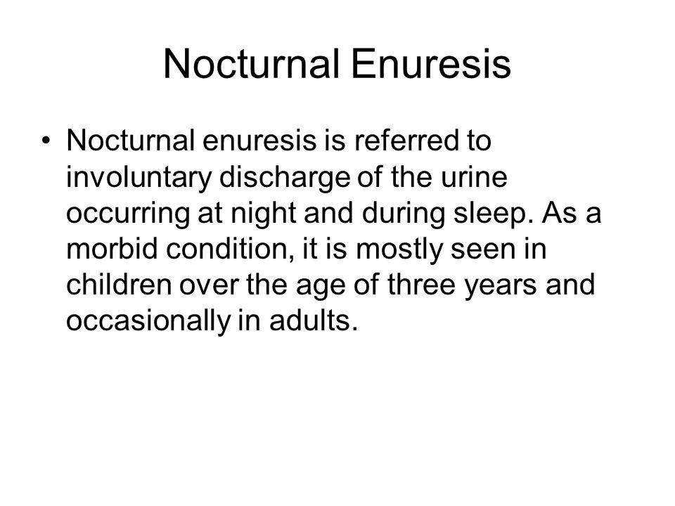 Nocturnal Enuresis