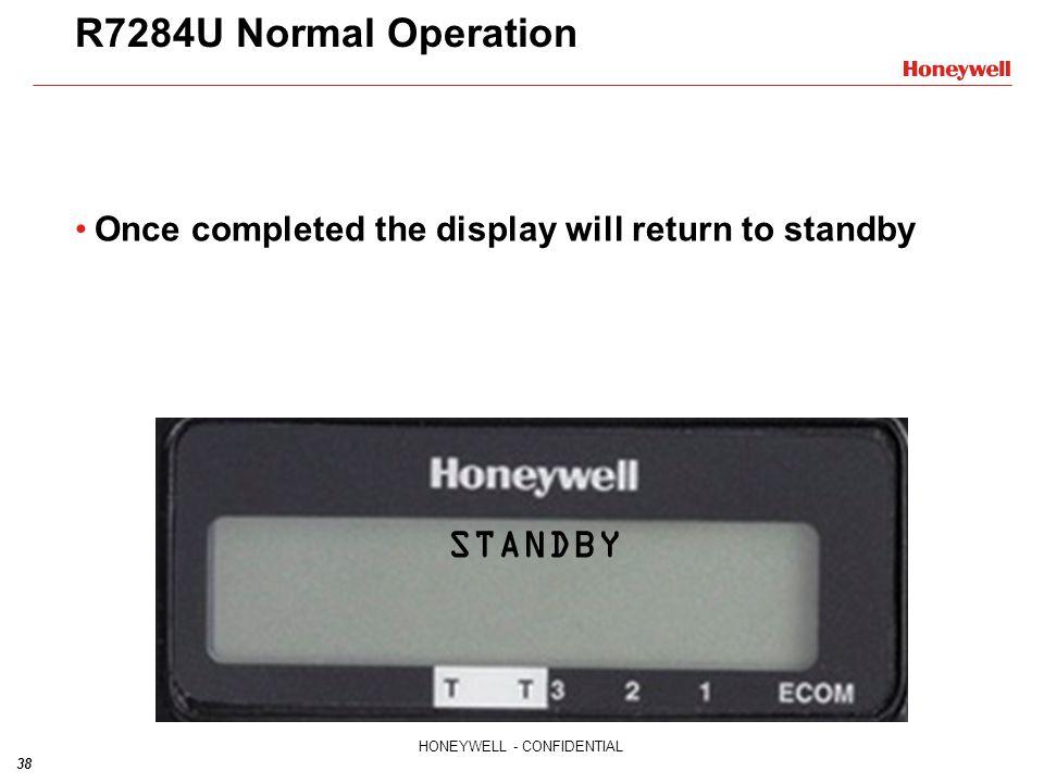 R7284U Normal Operation STANDBY