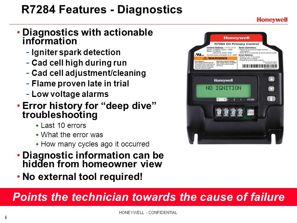R7284 Features - Diagnostics