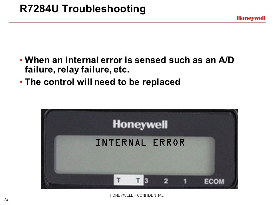 R7284U Troubleshooting INTERNAL ERROR