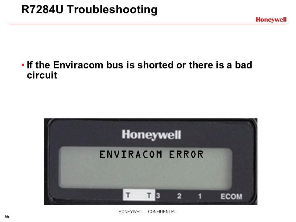 R7284U Troubleshooting ENVIRACOM ERROR