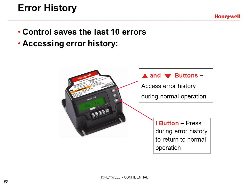 Error History Control saves the last 10 errors
