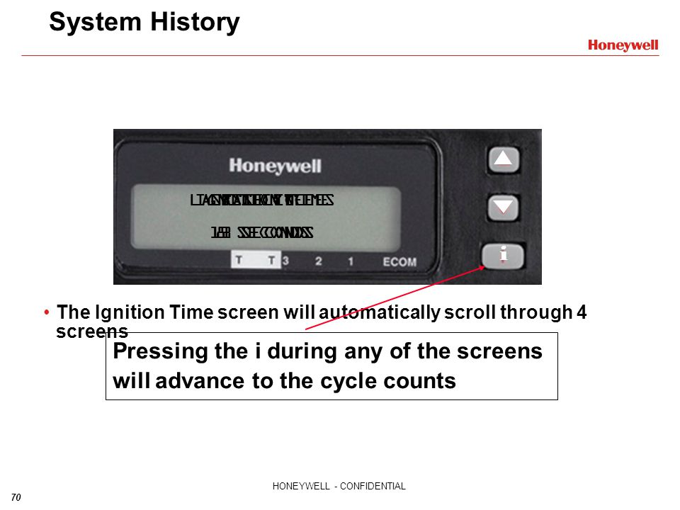 System History IGNITION TIME. BASELINE. 8 SECONDS. LAST 10 CYCLES. 11 SECONDS. LAST CYCLE. 12 SECONDS.