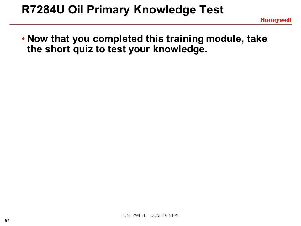 R7284U Oil Primary Knowledge Test