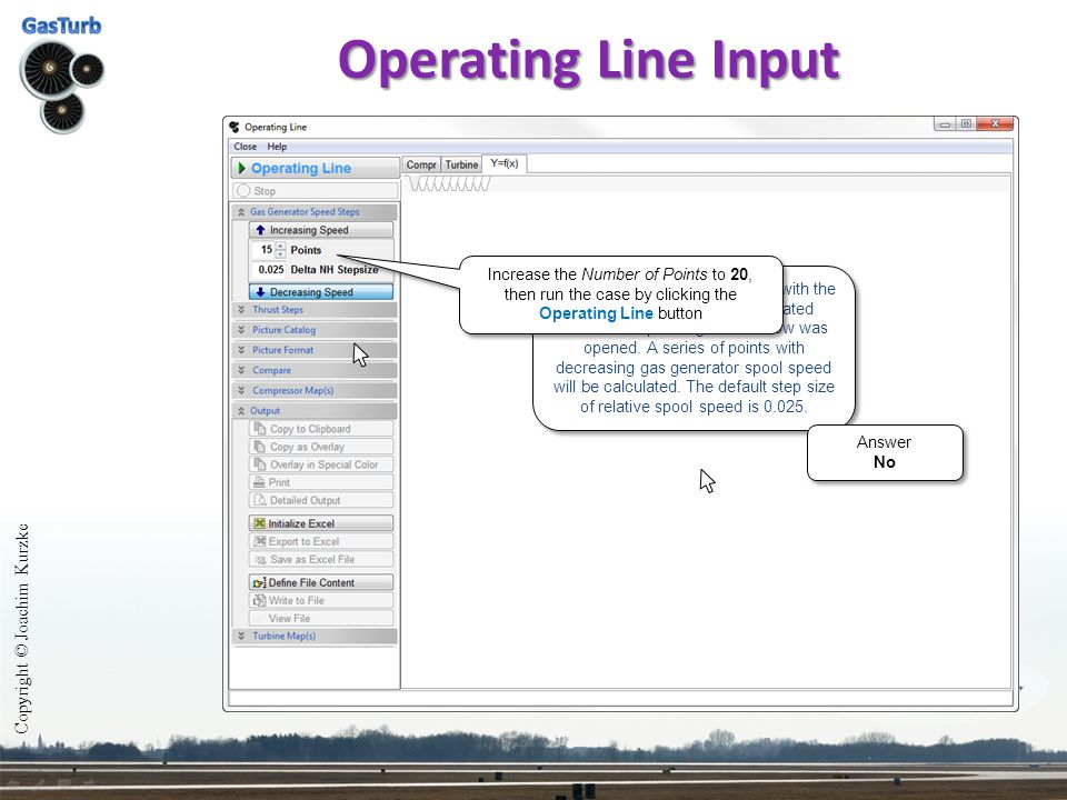 Operating Line Input Copyright © Joachim Kurzke