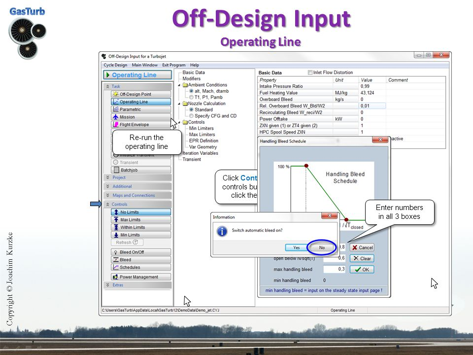 Off-Design Input Operating Line