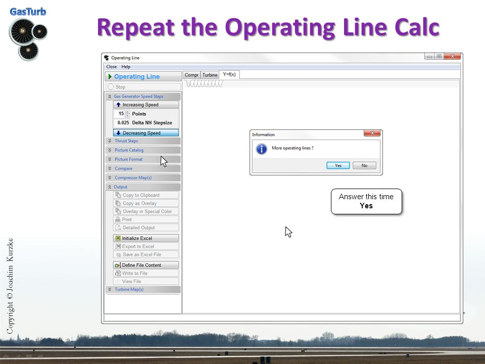 Repeat the Operating Line Calc