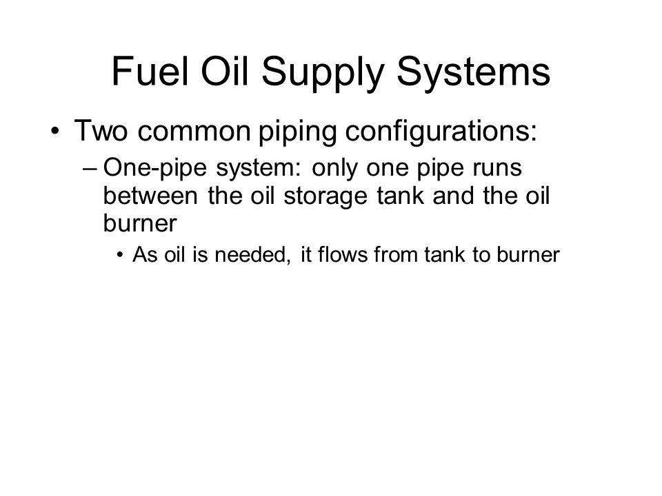 Fuel Oil Supply Systems