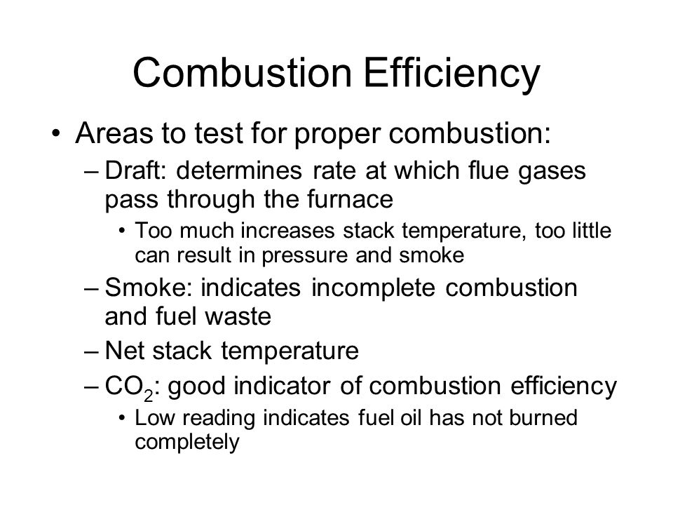 Combustion Efficiency