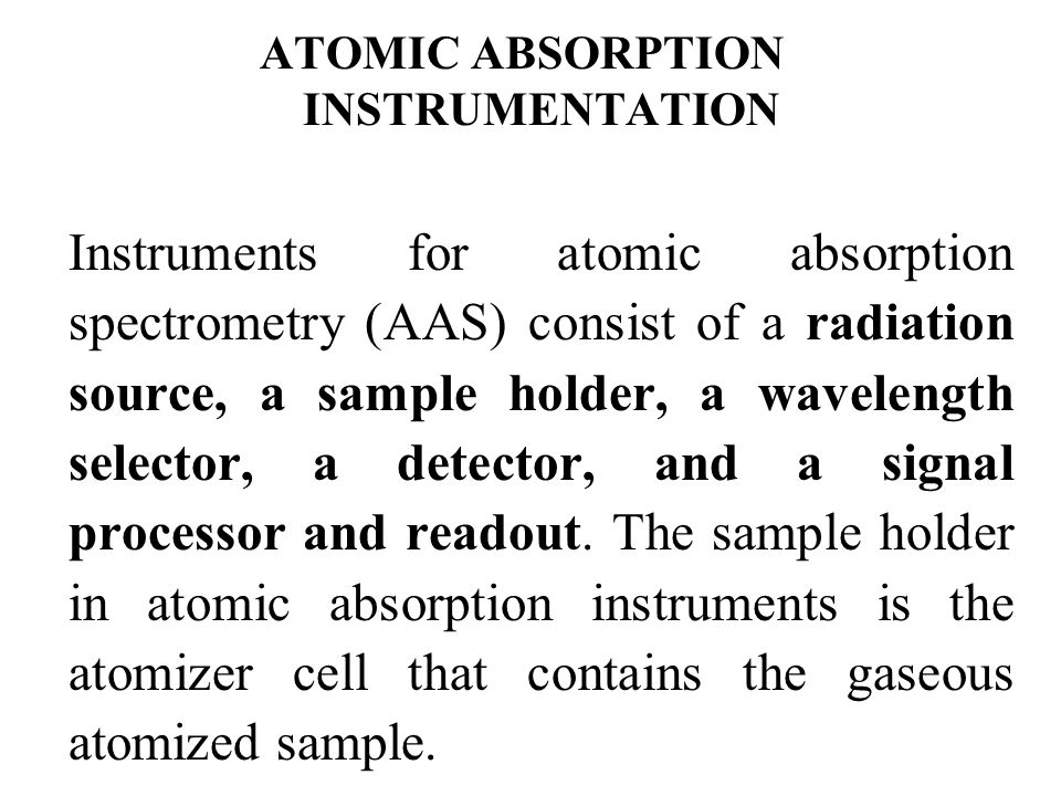 ATOMIC ABSORPTION INSTRUMENTATION