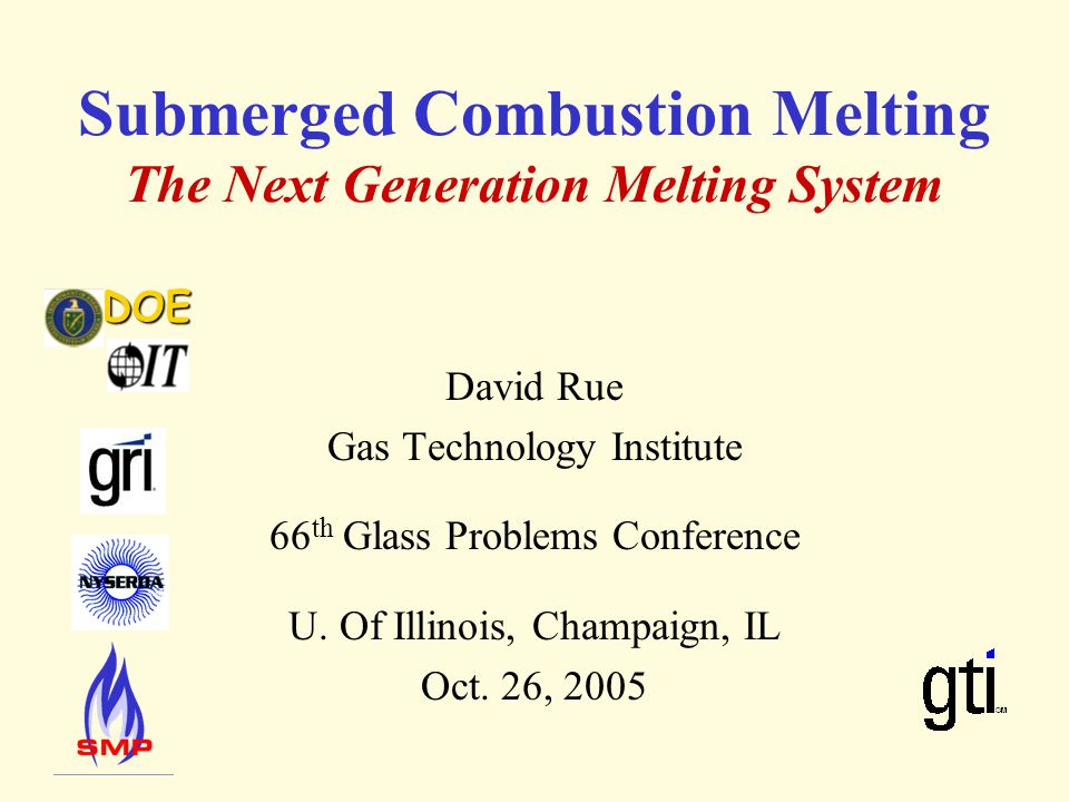 Submerged Combustion Melting The Next Generation Melting System