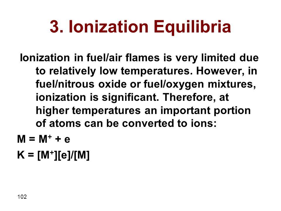 3. Ionization Equilibria