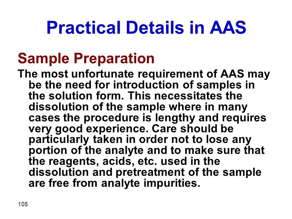 Practical Details in AAS