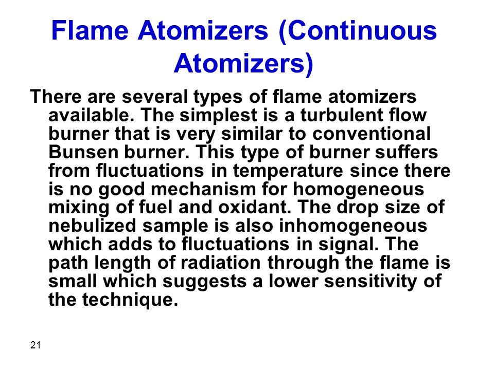 Flame Atomizers (Continuous Atomizers)