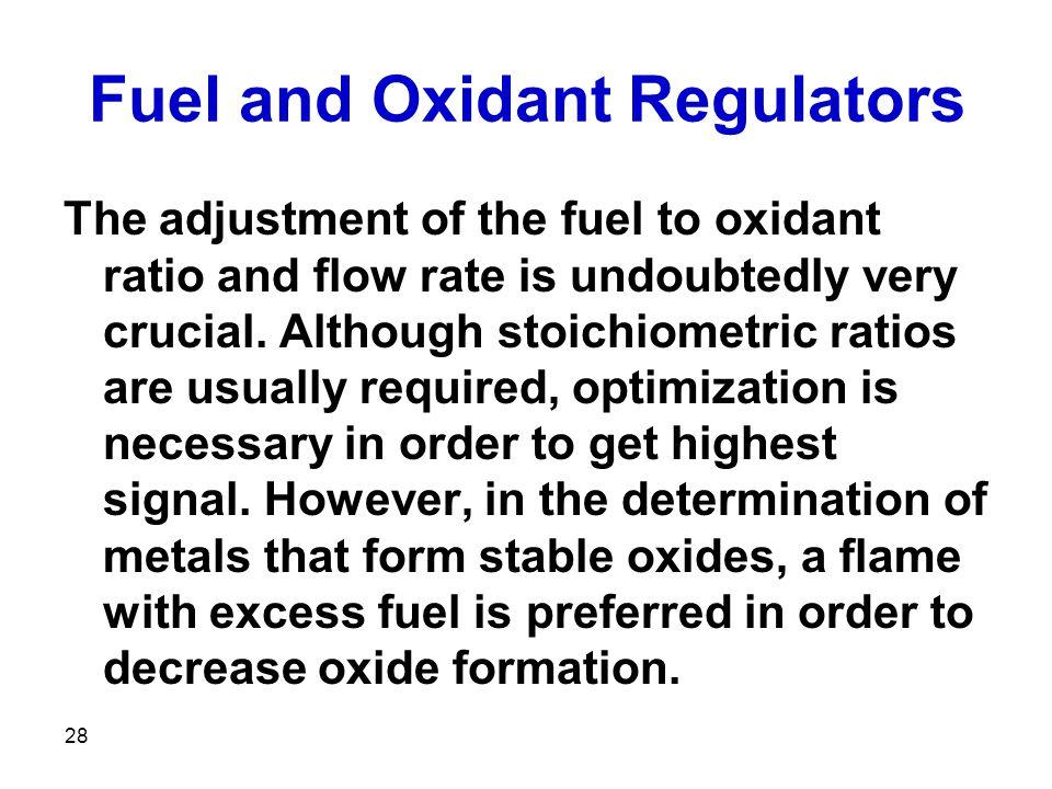 Fuel and Oxidant Regulators