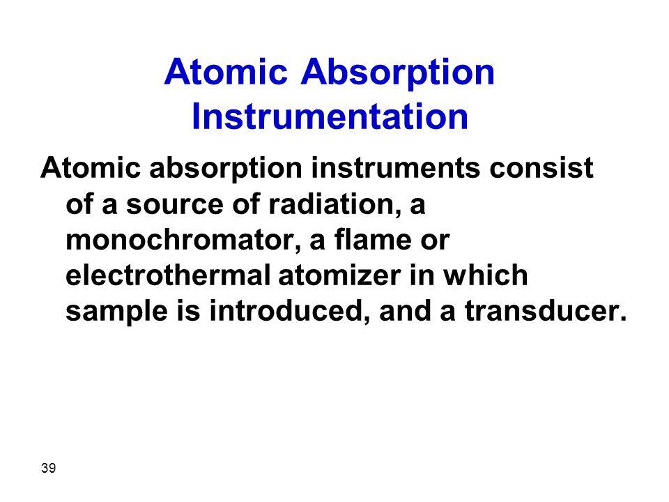 Atomic Absorption Instrumentation