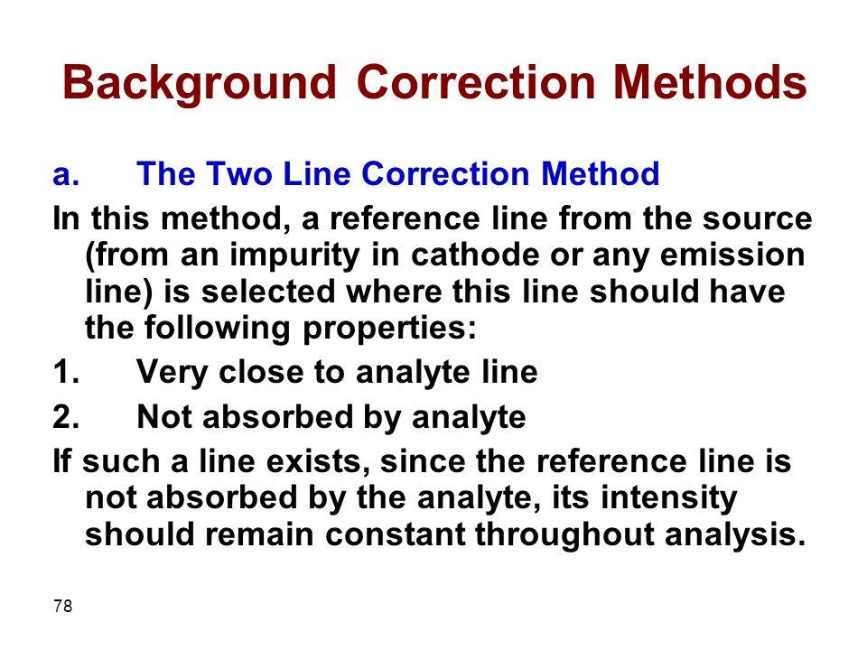 Background Correction Methods