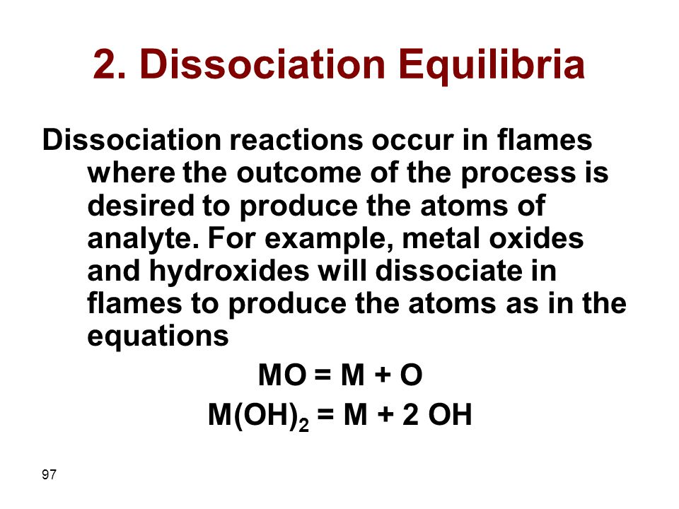 2. Dissociation Equilibria