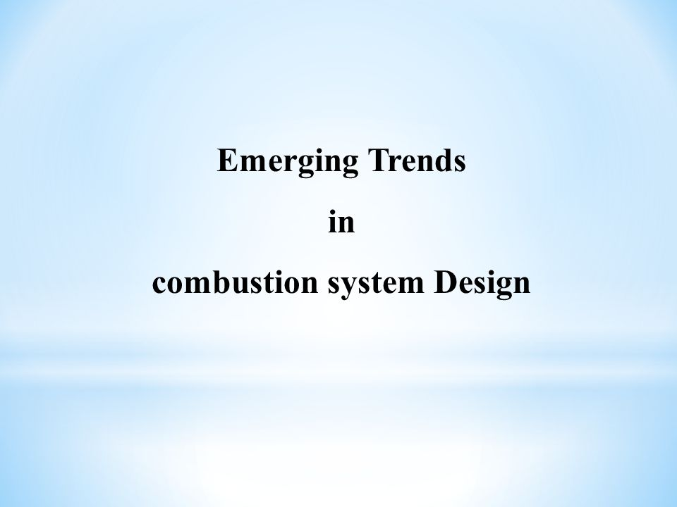 combustion system Design