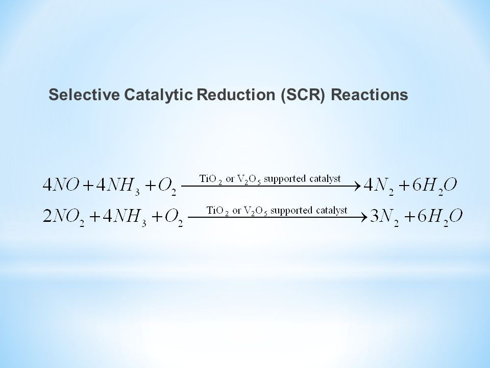Selective Catalytic Reduction (SCR) Reactions