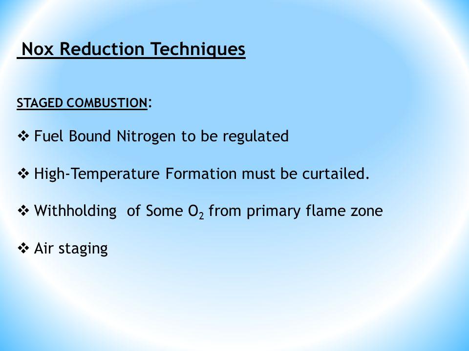 Nox Reduction Techniques