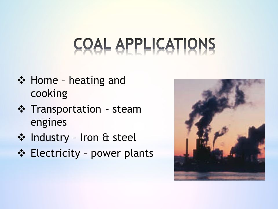 COAL APPLICATIONS Home – heating and cooking