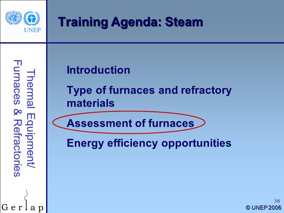 Training Agenda: Steam