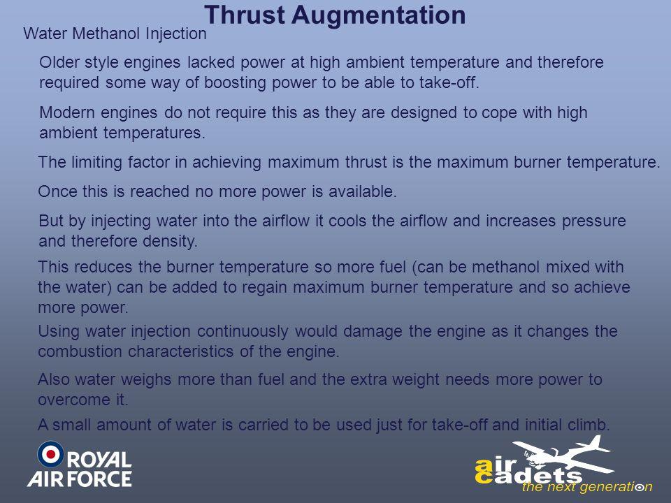 Thrust Augmentation Water Methanol Injection