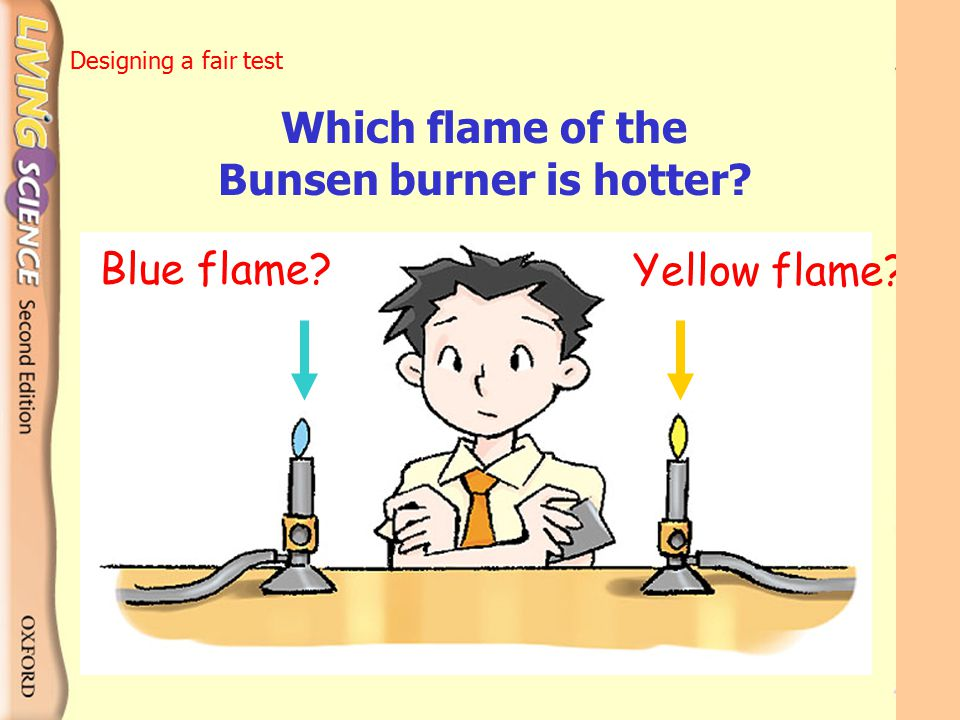 Which flame of the Bunsen burner is hotter