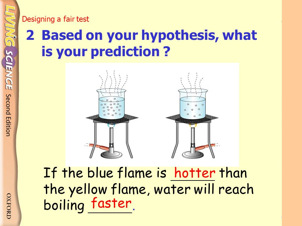 2 Based on your hypothesis, what is your prediction
