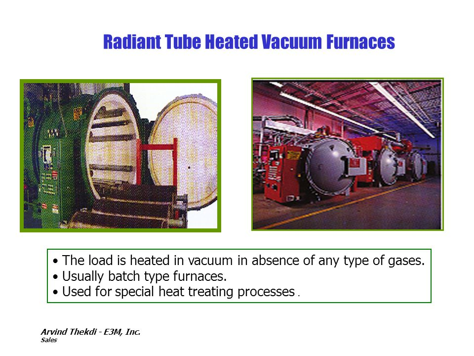 Radiant Tube Heated Vacuum Furnaces