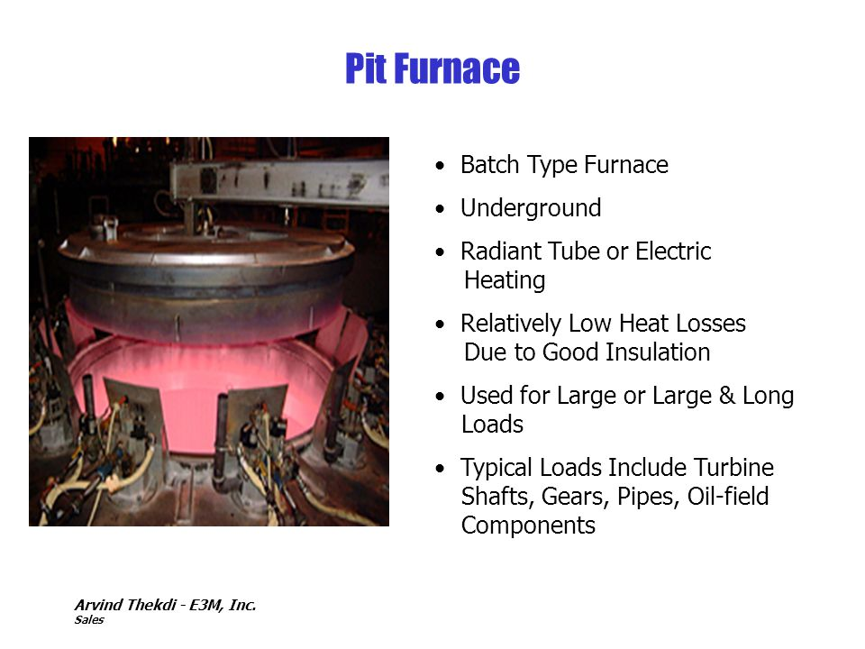 Pit Furnace Batch Type Furnace Underground