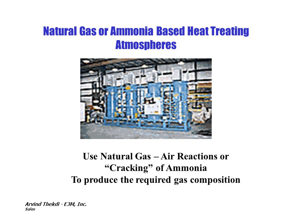 Natural Gas or Ammonia Based Heat Treating Atmospheres