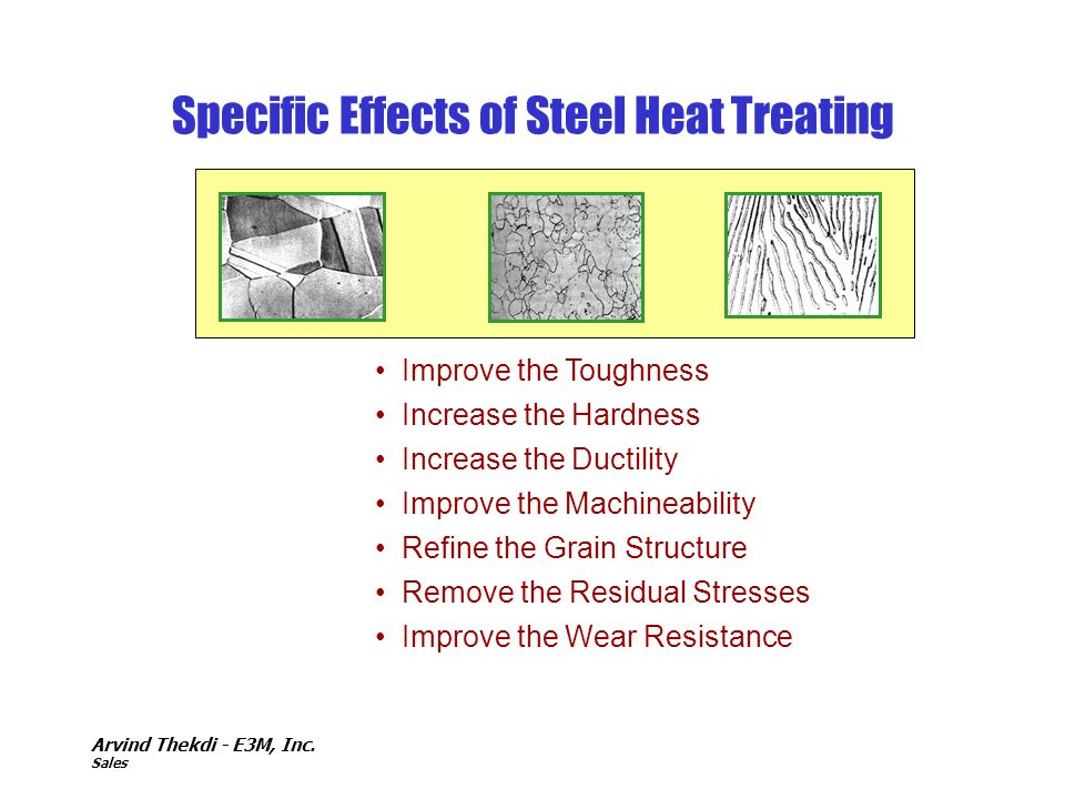 Specific Effects of Steel Heat Treating