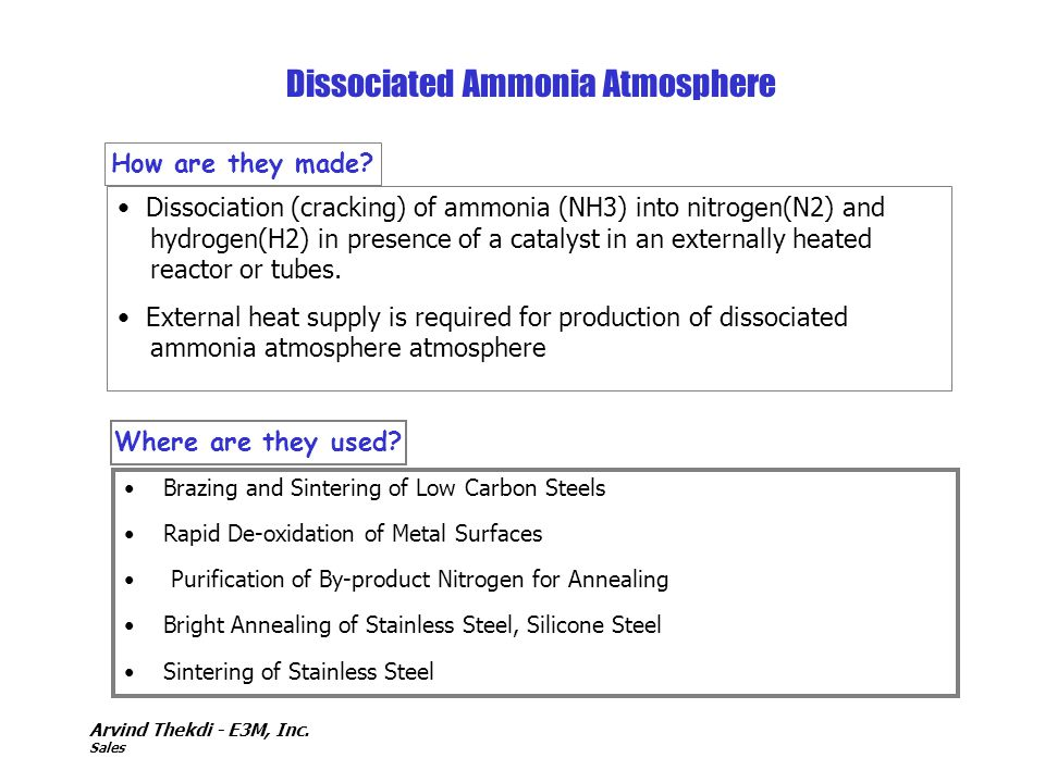 Dissociated Ammonia Atmosphere