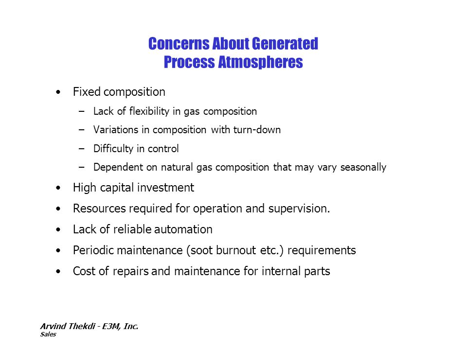 Concerns About Generated Process Atmospheres