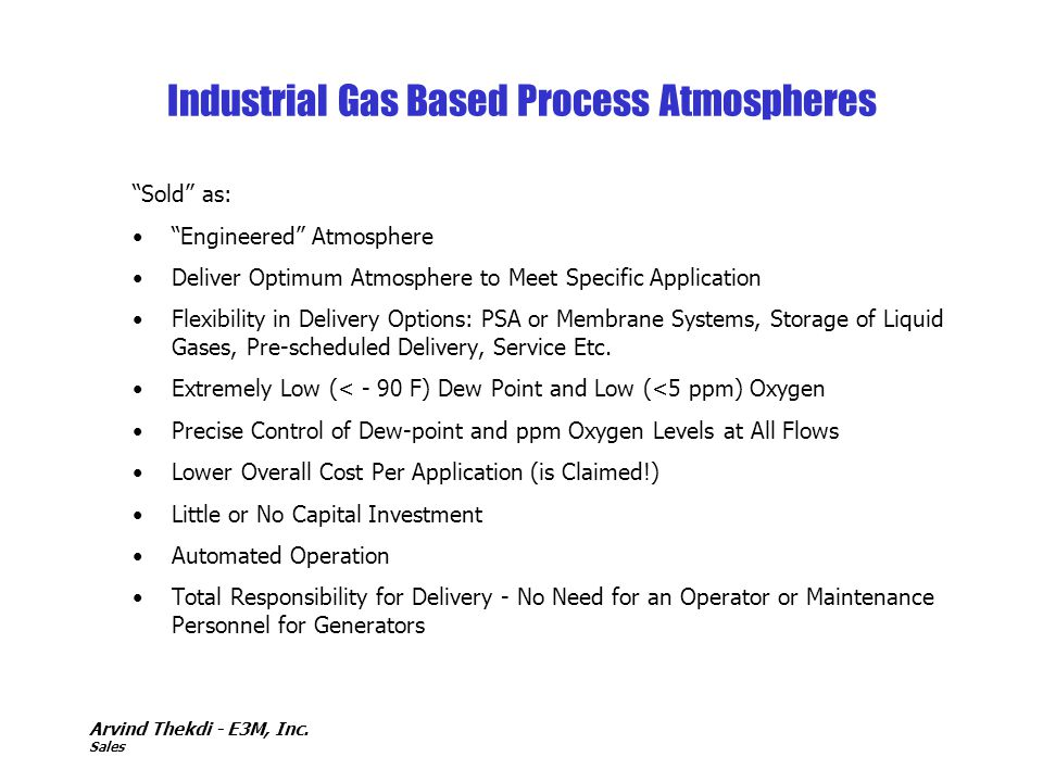 Industrial Gas Based Process Atmospheres