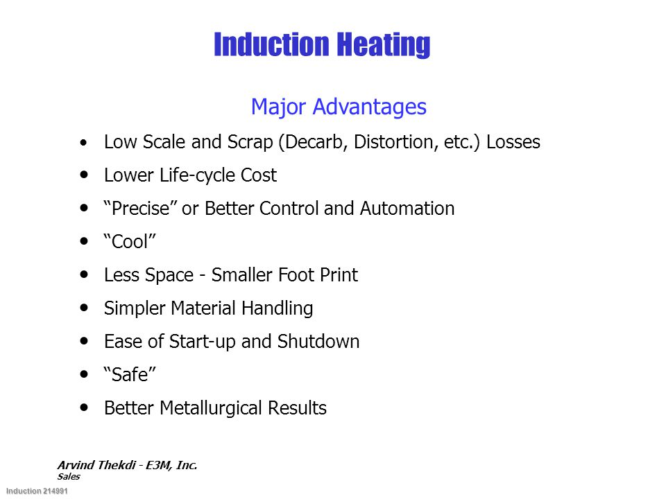 Induction Heating Major Advantages