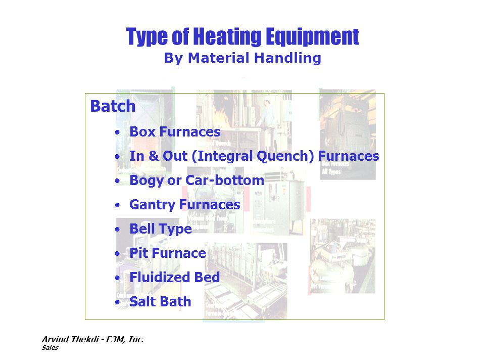 Type of Heating Equipment By Material Handling